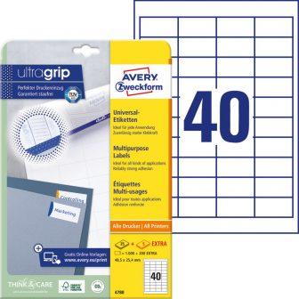 Avery Zweckform 4780 öntapadós etikett címke