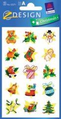 Avery Zweckform Z-Design No. 52271 karácsonyi csillogó papír matrica - Karácsonyi jelképek - kiszerelés: 2 ív / csomag (Avery Z-Design 52271)