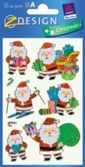 Avery Zweckform Z-Design No. 52279 karácsonyi fólia matrica - különféle Télapók motívumokkal - kiszerelés: 1 ív / csomag (Avery Z-Design 52279)