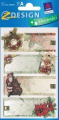 Avery Zweckform Z-Design No. 52590 karácsonyi kollázs matrica - télapó és ajándékok motívumokkal - kiszerelés: 1 ív / csomag (Avery Z-Design 52590)
