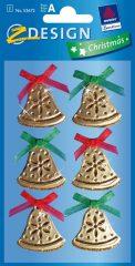 Avery Zweckform Z-Design No. 52671 karácsonyi csillogó kollázs matrica - csengettyűk motívumokkal - kiszerelés: 1 ív / csomag (Avery Z-Design 52671)