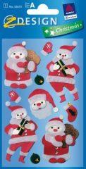 Avery Zweckform Z-Design No. 52673 karácsonyi kollázs matrica - télapó motívumokkal - kiszerelés: 1 ív / csomag (Avery Z-Design 52673)
