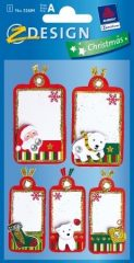 Avery Zweckform Z-Design No. 52684 karácsonyi csillogó kollázs matrica - télapó és jegesmedve motívumokkal - kiszerelés: 1 ív / csomag (Avery Z-Design 52684)