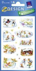 Avery Zweckform Z-Design No. 52708 karácsonyi papír matrica - téli sportok, téli játékok mintával - kiszerelés: 3 ív / csomag (Avery Z-Design 52708)