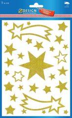 Avery Zweckform Z-Design No. 52768 karácsonyi ablakdekor matrica - arany színű csillagok mintával - kiszerelés: 1 ív / csomag (Avery Z-Design 52768)