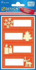 Avery Zweckform Z-Design No. 52770 öntapadó papír matrica - karácsonyi ajándékkísérő motívumokkal - kiszerelés: 2 ív / csomag (Avery Z-Design 52770)