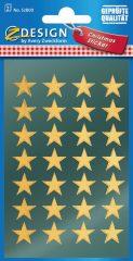 Avery Zweckform Z-Design No. 52800 magasfényű, öntapadó fólia matrica - arany színű csillagokkal - kiszerelés: 2 ív / csomag (Avery Z-Design 52800)