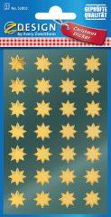 Avery Zweckform Z-Design No. 52803 magasfényű, öntapadó fólia matrica - arany színű csillagokkal - kiszerelés: 2 ív / csomag (Avery Z-Design 52803)