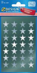 Avery Zweckform Z-Design No. 52811 magasfényű, öntapadó fólia matrica - ezüst színű csillagokkal - kiszerelés: 2 ív / csomag (Avery Z-Design 52811)