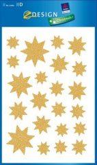 Avery Zweckform Z-Design No. 52856 karácsonyi ablakdekor matrica - arany csillagok mintával - kiszerelés: 1 ív / csomag (Avery Z-Design 52856)