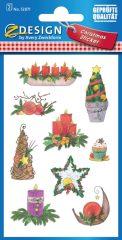 Avery Zweckform Z-Design No. 52871 öntapadó karácsonyi papír matrica - karácsonyi motívumokkal - kiszerelés: 2 ív / csomag (Avery Z-Design 52871)