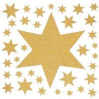 Avery Zweckform Z-Design No. 52989 karácsonyi ablakdekor matrica - arany csillagok mintával - kiszerelés: 1 ív / csomag (Avery Z-Design 52989)