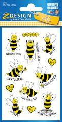 Avery Zweckform Z-Design No. 53132 öntapadó papír matrica méhecskés motivációs képekkel.