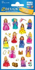 Avery Zweckform Z-Design No. 53198 öntapadó papír matrica - vidám hercegnők képekkel - kiszerelés: 3 ív / csomag (Avery Z-Design 53198)