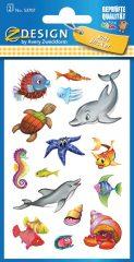 Avery Zweckform Z-Design No. 53707 csillogó papír matrica tengeri élőlény motívumokkal - 2 ív / csomag (Avery Z-Design 53707)