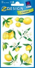 Avery Zweckform Z-Design No. 54360 öntapadó papír matrica - citrom és virág mintával - kiszerelés: 3 ív / csomag (Avery Z-Design 54360)