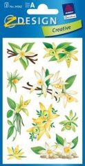 Avery Zweckform Z-Design No. 54362 öntapadó papír matrica - vanília és virág mintával - kiszerelés: 3 ív / csomag (Avery Z-Design 54362)
