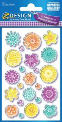 Avery Zweckform Z-Design No. 54385 magasfényű, öntapadó papír matrica - színes virágok motívumokkal - kiszerelés: 1 ív / csomag (Avery Z-Design 54385)