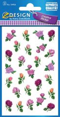 Avery Zweckform Z-Design No. 54456 öntapadó papír matrica - apró rózsák mintával - kiszerelés: 3 ív / csomag (Avery Z-Design 54456)