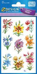 Avery Zweckform Z-Design No. 54481 öntapadó papír matrica - színes liliom motívumokkal - kiszerelés: 2 ív / csomag (Avery Z-Design 54481)