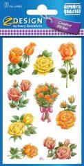 Avery Zweckform Z-Design No. 54482 öntapadó papír matrica - színes rózsák motívumokkal - kiszerelés: 2 ív / csomag (Avery Z-Design 54482)