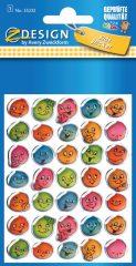 Avery Zweckform Z-Design No. 55232 kristály 3D matrica - különböző színű nevető arcok mintával - kiszerelés: 1 ív / csomag (Avery Z-Design 55232)