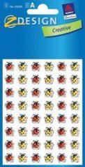 Avery Zweckform Z-Design No. 55520 kristály 3D matrica - piros és sárga katicabogár mintával - kiszerelés: 1 ív / csomag (Avery Z-Design 55520)