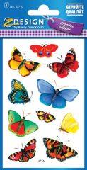 Avery Zweckform Z-Design No. 55710 öntapadó papír matrica - különböző színű lepkék mintával - kiszerelés: 3 ív / csomag (Avery Z-Design 55710)