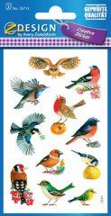 Avery Zweckform Z-Design No. 55713 öntapadó papír matrica - színes madarak mintával - kiszerelés: 3 ív / csomag (Avery Z-Design 55713)