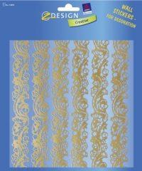 Avery Zweckform Z-Design No. 55890 átlátszó matrica falak, szobák, bútorok díszítésére - arany bordűr - kiszerelés: 1 ív / csomag (Avery Z-Design 55890)