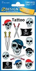 Avery Zweckform Z-Design No. 56632 öntapadó tetoválás matrica kalóz koponyák és kardok motívumokkal.