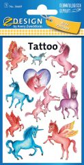 Avery Zweckform Z-Design No. 56669 öntapadó tetoválás matrica unikornisok motívumokkal.