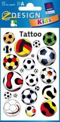Avery Zweckform Z-Design No. 56670 tattoo (tetoválás) matrica focilabda motívumokkal - 1 ív / csomag (Avery Z-Design 56670)