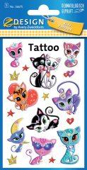Avery Zweckform Z-Design No. 56675 öntapadó tetoválás matrica cicák, macskák motívumokkal.