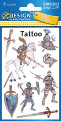 Avery Zweckform Z-Design No. 56739 öntapadó tetoválás matrica középkori lovagok motívumokkal.