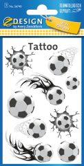 Avery Zweckform Z-Design No. 56740 öntapadó tetoválás matrica focilabdák motívumokkal.