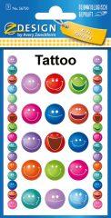 Avery Zweckform Z-Design No. 56750 öntapadó tetoválás matrica nevető arcok motívumokkal.
