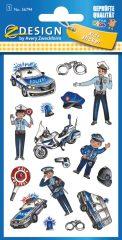 Avery Zweckform Z-Design No. 56794 öntapadó fémhatású matrica rendőrség képekkel.