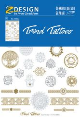 """Avery Zweckform Z-Design No. 56802 öntapadó tetoválás matrica """"Spirit"""" motívumokkal."""
