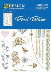 """Avery Zweckform Z-Design No. 56803 öntapadó tetoválás matrica """"Romantik"""" motívumokkal."""
