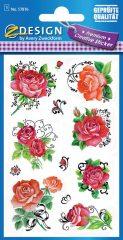 Avery Zweckform Z-Design No. 57876 prémium minőségű, öntapadó papír matrica - vörös rózsa motívumokkal - kiszerelés: 1 ív / csomag (Avery Z-Design 57876)