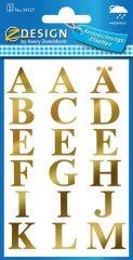 Avery Zweckform Z-Design No. 59127 öntapadó átlátszó nyomtatott nagybetűk - arany színben - kiszerelés: 2 ív / csomag (Avery Z-Design 59127)