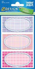 Avery Zweckform Z-Design No. 59194 papír matrica iskolai füzetekre - kockás motívumokkal - kiszerelés: 3 ív / csomag (Avery Z-Design 59194)