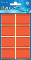 Avery Zweckform Z-Design No. 59372 papír matrica fagyasztott termékek feliratozására, megjelölésére - piros színben - kiszerelés: 5 ív / csomag (Avery Z-Design 59372)