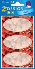 Avery Zweckform Z-Design No. 59549 papír matrica befőttes üvegre - eper mintával - kiszerelés: 3 ív / csomag (Avery Z-Design 59549)
