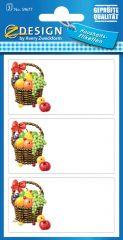 Avery Zweckform Z-Design No. 59677 papír matrica befőttes üvegre - gyümölcskosár mintával - kiszerelés: 3 ív / csomag (Avery Z-Design 59677)