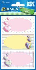 Avery Zweckform Z-Design No. 59680 öntapadó füzet matrica színes szívek motívumokkal.