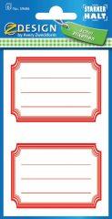 Avery Zweckform Z-Design No. 59686 öntapadó füzet matrica piros színű kerettel.