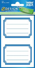 Avery Zweckform Z-Design No. 59687 öntapadó füzet matrica kék színű kerettel.