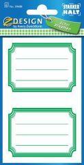 Avery Zweckform Z-Design No. 59688 öntapadó füzet matrica zöld színű kerettel.